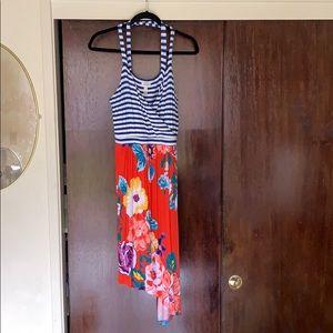 Cross back, A-line bottom comfy summer dress